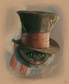Tim Burton's Cheshire Cat by ~Miss-Madd Tim Burton Kunst, Tim Burton Art, Lewis Carroll, Tim Burton Personajes, Chesire Cat, Alice Madness, Mad Hatter Tea, Mad Hatters, Through The Looking Glass