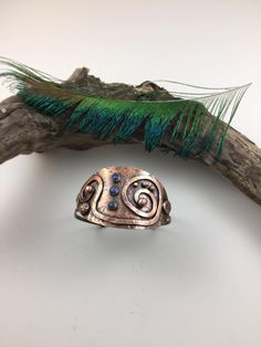 Copper and Lapis bracelet. Grace Garza Studio G