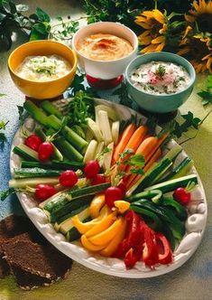 Unser beliebtes Rezept für Gemüseplatte mit Quark-Dips und mehr als 55.000…
