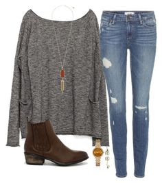 It's starting to feel like fall in tx(: by daniellekenz on Polyvore featuring Zara, Paige Denim, Bamboo, Michael Kors and Kendra Scott