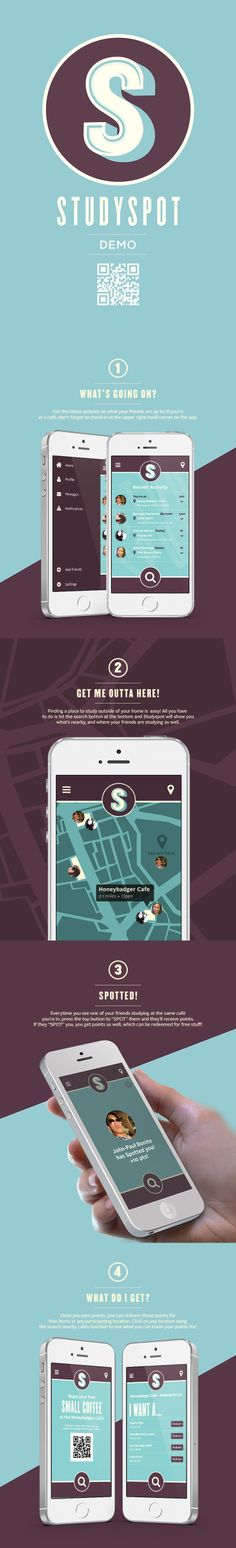 Unique App Design, Studyspot #App #Design (http://www.pinterest.com/aldenchong/)