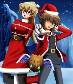 .: Commission : Christmas GX :. by Sincity2100.deviantart.com on @DeviantArt  Yugioh GX Jaden Yuki and Alexis Rhodes