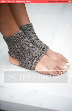 These simple socks have so many uses, from keeping your ankles warm in yoga class, to post-pedicure pampering, to just lounging around the house. Knit with an open toe and crochet open heel to allow for grip while also keeping your feet from getting too hot. Cool feet, warm feet, happy feet. A paradox in the making.  This listing is for a KNITTING PATTERN ONLY  » Suggested yarn « Sweet Fiber Yarns Merino Twist Worsted  » Needle size « US 7 - 4.5 mm (circular or DPNs)  » Hook size « 3.5 mm…