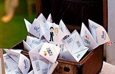 懐かしの「パクパク折り紙」が大活躍♡《クーティーキャッチャー》が、結婚式で使えるらしい*にて紹介している画像
