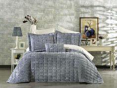 Cuvertura brodata catifea_gri Comforters, Blanket, Luxury, Home, Legs, Creature Comforts, House, Blankets, Homes