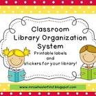 Have you always wanted to organize your classroom library but werent sure how? Didnt have the patience to make a bunch of labels? ~Pinned by www.FernSmithsClassroomIdeas.com