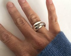 Russian Wedding, Handmade Sterling Silver, Sterling Silver Rings, Silver Jewelry, Chunky Silver Rings, Rolling Ring, Statements, Halo Rings, Band