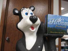 Lot # : 198 - Rare Life Size 5 Foot Styrofoam Hamm's Bear