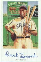 """Walter Fenner """"Buck"""" Leonard (September 8, 1907 - November 27, 1997) was a first baseman for the Homestead Grays in the Negro League, batting cleanup behind teammate Josh Gibson. He had a career .321 batting average and was inducted into the Baseball Hall of Fame in 1972. #TodayInBlackHistory"""