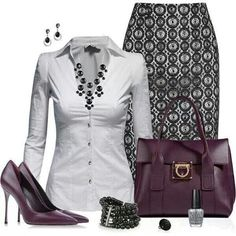 Classic black & white with a deeply colored accessory