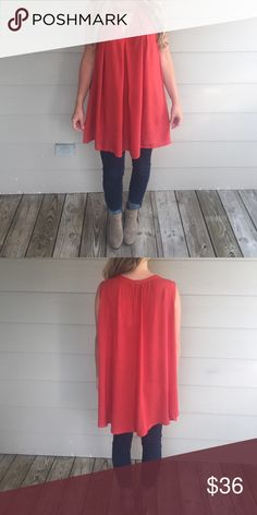 Burnt orange Burnt orange top! Great for fall and summer!  100% rayon- wearing size small Tops Blouses