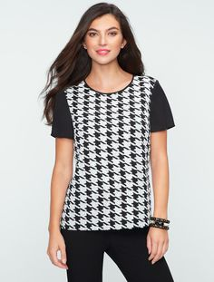 Talbots - Sequin Houndstooth Top | Misses | Misses