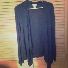 Long Gray Cardigan Long, thin, dark gray cardigan. Size small. Kirra Sweaters Cardigans