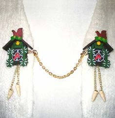 Love these cuckoo clock sweater clips.......