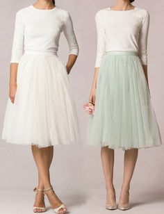 Separates by Jenny Yoo | Paisley Sweater with lace appliqué + Lucy Skirt in Tulle