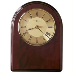 Howard Miller Honor Time III Plaque Wall/Table Clock ($108) ❤ liked on Polyvore featuring home, home decor, clocks, battery clock, wall-clock, roman numeral wall clock, howard miller wall clock and engraved plates