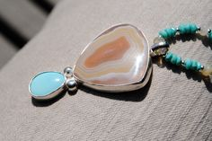 Summer Morning  Moctezuma agate with Sleeping Beauty by EvyDaywear