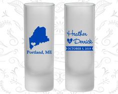 Maine Wedding, Frosted Shooter Glass, Destination Wedding, State Wedding (118)