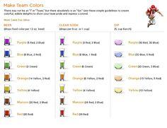 food colour mixing guide - Google zoeken