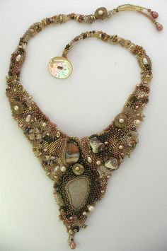 custom bead weave necklace by cindyriccardelli, via Flickr