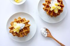 Carrot Cake Waffles You Won't Believe are Vegan and Gluten Free