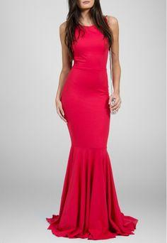 PowerLook Aluguel de Vestidos Online -POWERLOOK Vestido Fani longo decote nas costas e cauda Powerlook - vermelho #fani #decotecostas #cauda #vestidolongo #vestidovermelho #vestidocasamento #vestidofesta #vestidomadrinha #madrinha