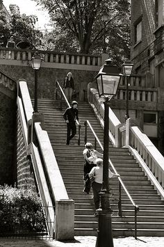 Stairs leading up to Place Dalida, Montmartre