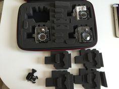 Smatree SmaCase G360カメラケース(13.4×9.4×3) GOPRO HERO4,HERO3,HERO3+,HERO2,HERO1,アクセサリー対応 内部エクセレントカットのフォーム 旅行やホームストレージに最適 ブラック&レッド 大型ケース カメラ2~4台収納