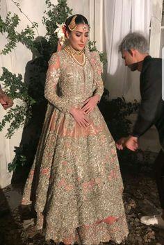 muslim wedding dresses without hijab Pakistani Bridal Couture, Indian Bridal Wear, Pakistani Wedding Dresses, Pakistani Outfits, Indian Dresses, Indian Outfits, Asian Bridal, Asian Wedding Dress, Muslim Wedding Dresses