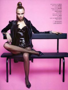 Cara Delevingne is A Shoe Vixen for Karl Lagerfeld In Melissa Magazine Winter 2013 | Fashion Gone Rogue: The Latest in Editorials and Campaigns Melissa Shoes, Cara Delevingne, High Ponytails, Future Fashion, Karl Lagerfeld, Fetish Fashion, Pantyhose Legs, Dominatrix, Fashion Models