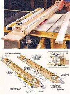 Taper Jig Plans - Furniture Legs Construction Techniques | WoodArchivist.com