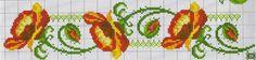 **Blog Amor Perfeito** Gráficos de ponto cruz: Barrinhas florais