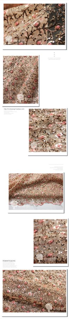 Approx $23.50 per metre. The senior apparel fabrics fabric 3d stereoscopic disk flowers sequins computerized embroidery lace - Taobao