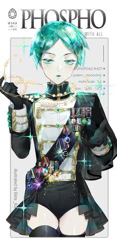 Houseki no Kuni 宝石の国 ♦ (Land of the Lustrous/ Country of Jewels) ♦ Phosphophyllite Manga Anime, Manga Art, Anime Guys, Anime Art, Character Concept, Character Art, Character Design, Female Characters, Anime Characters