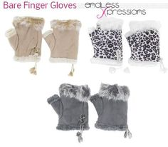 Fingerless gloves these are the warmest we carry and work great at fast food drive threw.  Great #texting gloves.  shop online at http://endlessxpressions.com/store/#charmers