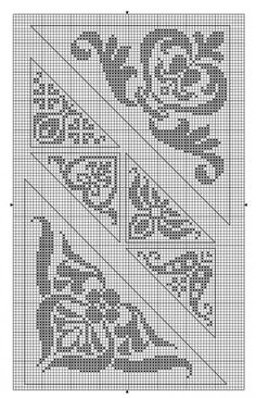 bottom one in fingering weight for a shawl Cross Stitch Borders, Cross Stitch Samplers, Cross Stitch Charts, Cross Stitch Designs, Cross Stitching, Cross Stitch Embroidery, Embroidery Patterns, Cross Stitch Patterns, Filet Crochet