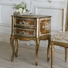 Eloquence French Country Style Vintage Nightstand:1930 | Art & Home  ||  The Eloquence French Country Style Vintage Nightstand:1930 from Kathy Kuo Home will make a brilliant enhancement to your stylish home. Part of the Art & Home complete Bedside Tables & Night Stands collection.  #furniture #decor #design #home Rustic Farmhouse Furniture, French Country Furniture, Urban Farmhouse, Small Nightstand, Vintage Nightstand, French Country Coffee Table, French Country Style, French Decor, French Country Decorating