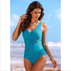 9eef10fb2db NAKIAEOI 2017 New One Piece Swimsuit Women Plus Size Swimwear Retro Vintage Bathing  Suits Beachwear Print Swim Wear Monokini - TakoFashion - Women s ...