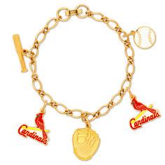 St. Louis Cardinals Charm Bracelet - Sunset Key Chains