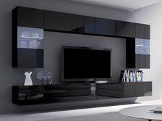 Creative Simple TV Wall Decor Idea for Living Room Design - Pajero is My Dream Modern Tv Room, Modern Tv Wall Units, Living Room Wall Units, Living Room Tv Unit Designs, Wall Unit Designs, Tv Wall Design, Tv Console Design, Showcase Designs For Hall, Tv Showcase Design