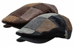 Stetson Wool Tweed Patchwork IVY CAP MEN Gatsby Newsboy HAT Golf Driving Flat | eBay
