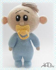 Amigurumi Bebe Azul con Chupete - Patrón Gratis en Español Más