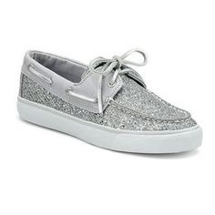 sperrywomn | Sperry Women's Casual Boat: Women's Bahama Boat Shoe. Silver Glitter ...
