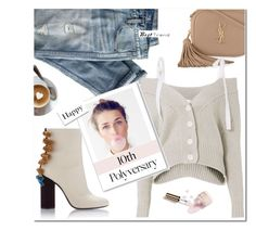 """""""Happy 10th Polyvore ♡"""" by idocoffee ❤ liked on Polyvore featuring J.Crew, Yves Saint Laurent, Adeam and Ciaté"""