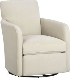 Zoe Swivel Chair  | Crate and Barrel - looks better in person color of fabric is a soft dove grey