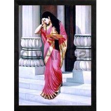 Lady  #Ravivarmapaintings #Artgallery