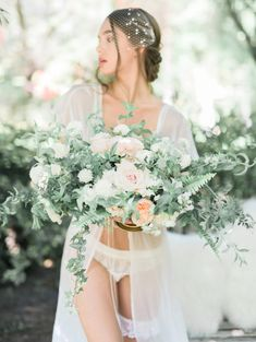 Organically Elegant Bridal-Boudoir Session – Style Me Pretty