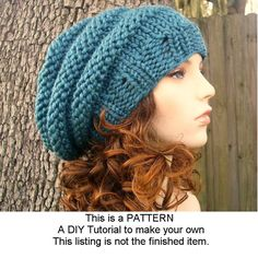 Instant Download Knitting Pattern  Knit Hat Pattern by pixiebell