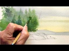How to paint a calm seascape - YouTube
