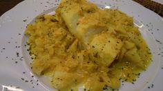 Fácil y Sano : Bacalao con hinojo en salsa de yogurt al curry